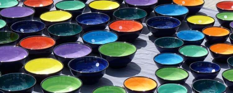 vendita ciotole colorate